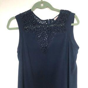 Pixley navy blouse
